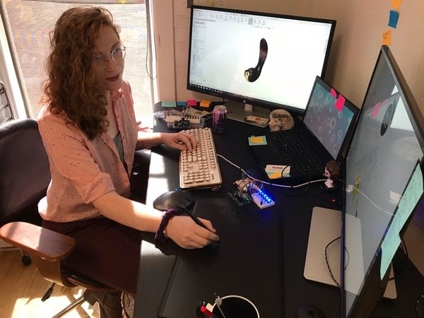 Dr. Ada-Rhodes Short, Lora DiCarlo's senior mechatronic design engineer.