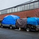 Homeless camps are dotted through the NW Industrial District. (Justin Katigbak)