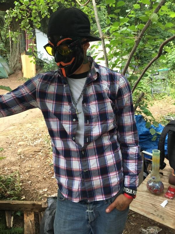 Crash Anarchy, 36, lives along the Springwater Corridor.