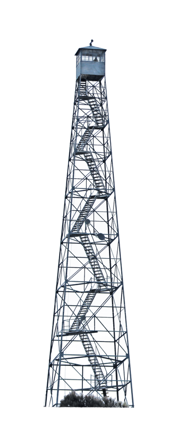 Militants led by the Bundy brothers have placed armed guards atop this fire tower in Malheur National Wildlife Refuge. (John Sepulvado)