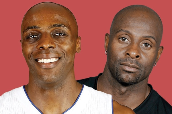 Anthony Tolliver (left) and Jerry Rice.