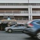 Traffic outside Lloyd Center Mall. (Abby Gordon)