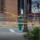 The scene of a hit-and-run at Portland State University. (Carter Maynard / KATU-TV)