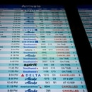 Cancelled flights at Portland International Airport. (Rocky Burnside)