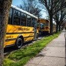 Portland public school buses. (Sam Gehrke)