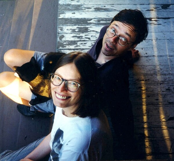 ZINE AGE DREAM: Puncture editors Katherine Spielmann and Steve Connell in 1994, shortly after moving to Portland. (Courtesy of Steve Connell.)
