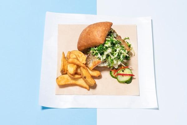 Flying Fish's Fish Sandwich ($18) (THomas Teal)