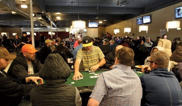Although Final Table, a poker club on Southeast 122nd Avenue shown here March 10, faces a city license suspension, players just want to play. (Natalie Behring)
