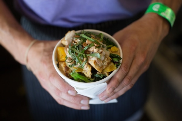 The Kashmir Bowl with organic tempeh at Thrive Pacific NW, SE 32nd and Hawthorne. (Anna Jaye Goellner)