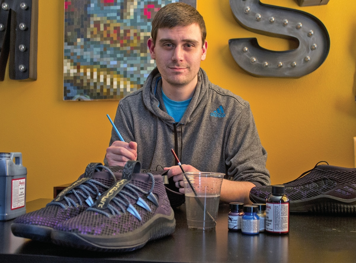 """0b476ebd1f3 This Portlander Jump-Started His Sneaker Design Career With a Pair of """"Black  Panther""""-Inspired Dame 4s"""
