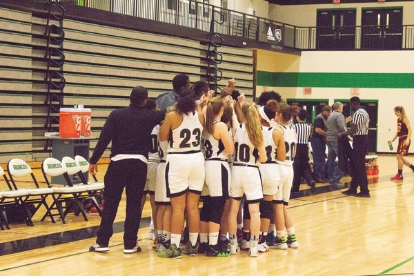 The 2018-19 Parkrose girls' basketball team is the latest athletics squad at the school to allegedly experience racist harassment at an away game. (Kaley Easton)