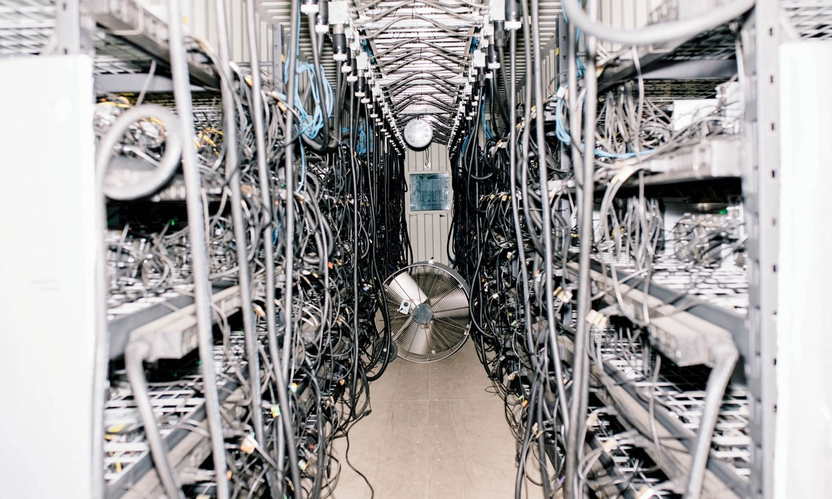 how much electric does cryptocurrency miner use