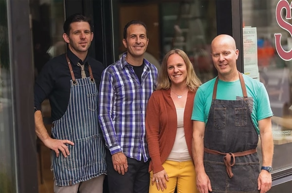 From left: Sean Sullivan, Craig Gerard, Ronit Kirshner Gerard and Scott Dolich. IMAGER: Josh Chang.