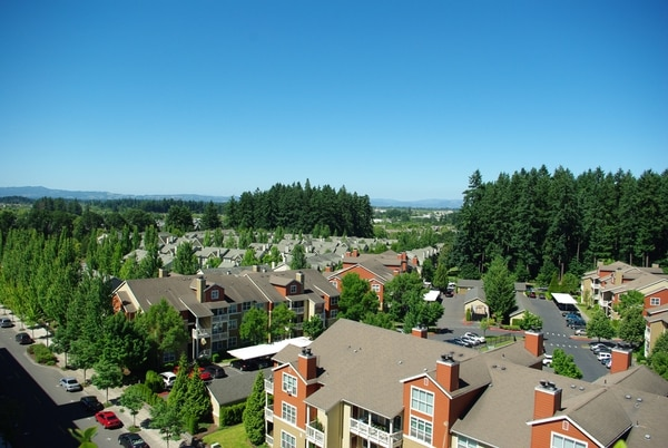 Looking west into the Tualatin Valley from Hillsboro. (M. O. Stevens / Wikimedia Commons)