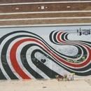 The pre-glass bricks version of the Elliott Smith memorial wall on Sunset Boulevard. IMAGE: Daniel Wabyick.