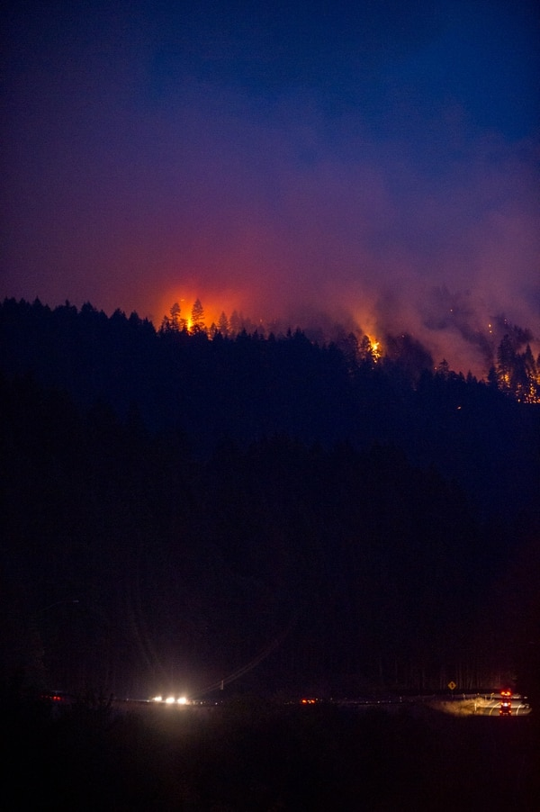 CASCADE LOCKS, OR – SEPT 03, 2017: Wildfires spread from Eagle Creek Trail sparkling evacuation notices to homes in the area (Photo by Diego G Diaz).