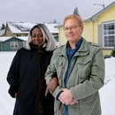 AT RISK: Beverly and Philip Smith stand in front of the home they purchased nearly a decade ago, soon after their marriage. Now, they're at risk of losing it. (Wesley LaPointe)