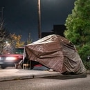 Some officials want the exterior spaces of new buildings to include space for houseless campers. (Wesley Lapointe)
